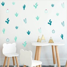 Cactus Wall Decals Woodland Tribal Sticker For Kids Room Nursery Succulent Cacti Tattoo Home Decor