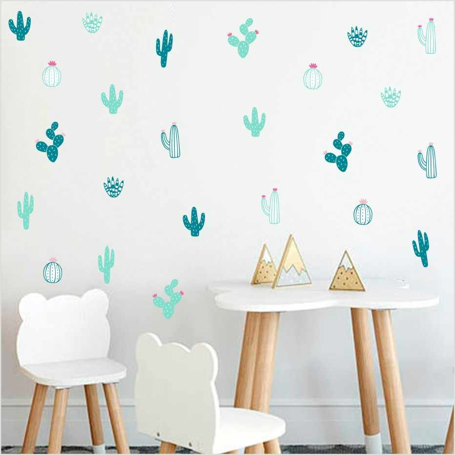 Detail Feedback Questions About Cactus Wall Decals Woodland Tribal Sticker For Kids Room Nursery Decor Succulent Cacti Tattoo Home