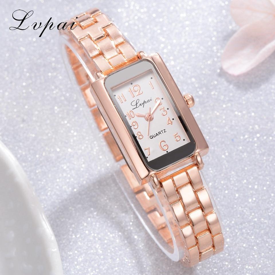 Lvpai Women Bracelet Watches Luxury Brand Quartz Creative Watch Ladies Steel Dress Wristwatches Female Relogios Femininos Clock