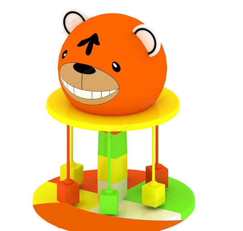 Jouets électriques mous d'intérieur d'amusement d'enfants, enfants tournant des chaises molles, équipement mou de jeu d'ours de bande dessinée