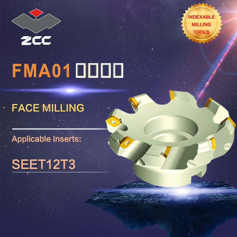 ZCC.CT original face milling cutters FMA01 high performance CNC lathe tools indexable milling tools close and even pithch 45 DEG