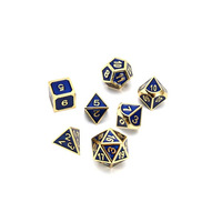 colorful metal dice dnd rpg polyhedral set dungeons dragon product table games aluminum digital dice pattern
