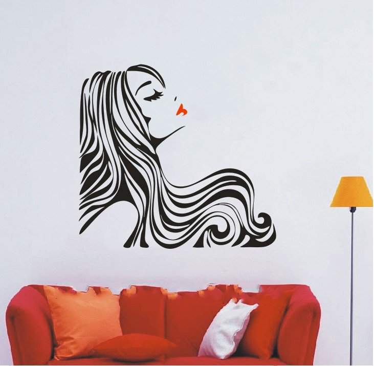 Newly arrived hair beauty salon barbershop sexy girl - Posters y vinilos ...
