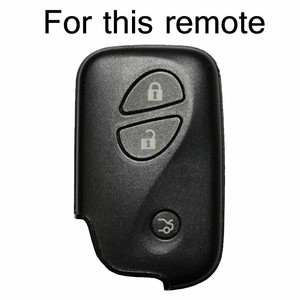 Image 2 - Voor Lexus Is IS250 GS300 IS220 LS460 RX350 RX450h CT200h Siliconen Remote Key Case Fob Shell Cover Jacket Mouw 3 knop