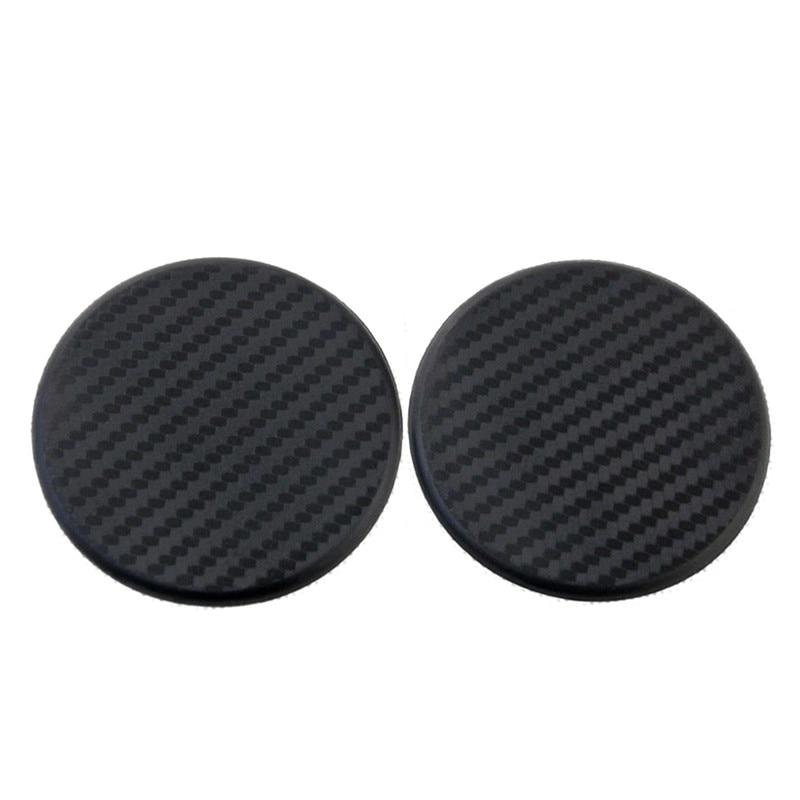 Auto  Black Vehicle Carbon Fiber Look  Car Non-Slip Mat  Water Cup Slot  Pad