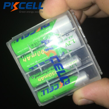 цена на PKCELL 2Pcs AA Battery 2200Mah +2Pcs 850mah AAA 1.2V  low self discharging NI-MH Rechargeable batteries +1pcs AA/AAA Battery box