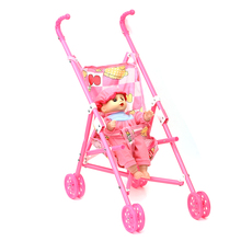 Viciviya Kids Trolley Baby Dolls Stroller Foldable Pushchair Pram Cart Bag Girls Toy Pram baby Christmas gift new year present