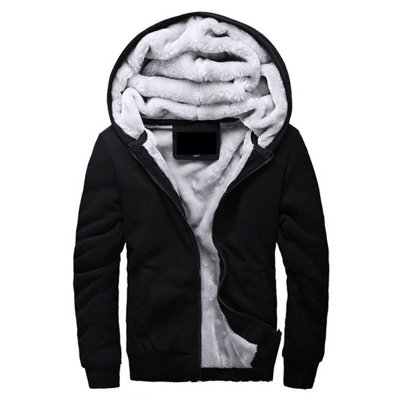 Лидер продаж Для мужчин с капюшоном Повседневное бренд Толстовки Костюмы шерстяная подкладка Для мужчин s Зима утолщенной теплое пальто мужской M-4XL кофты и пиджаки