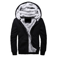 Hot Sale Men S Hooded Casual Brand Hoodies Clothing Wool Liner Mens Winter Thickened Warm Coat