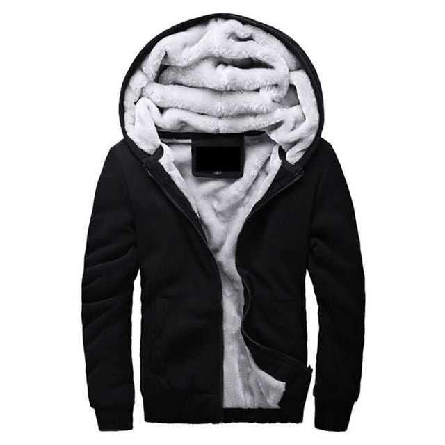 Hot Sale Men s Hooded Casual Brand Hoodies Clothing Wool Liner Mens Winter  Thickened Warm Coat Male M-4XL Sweatshirts Outwear 4e95b844686