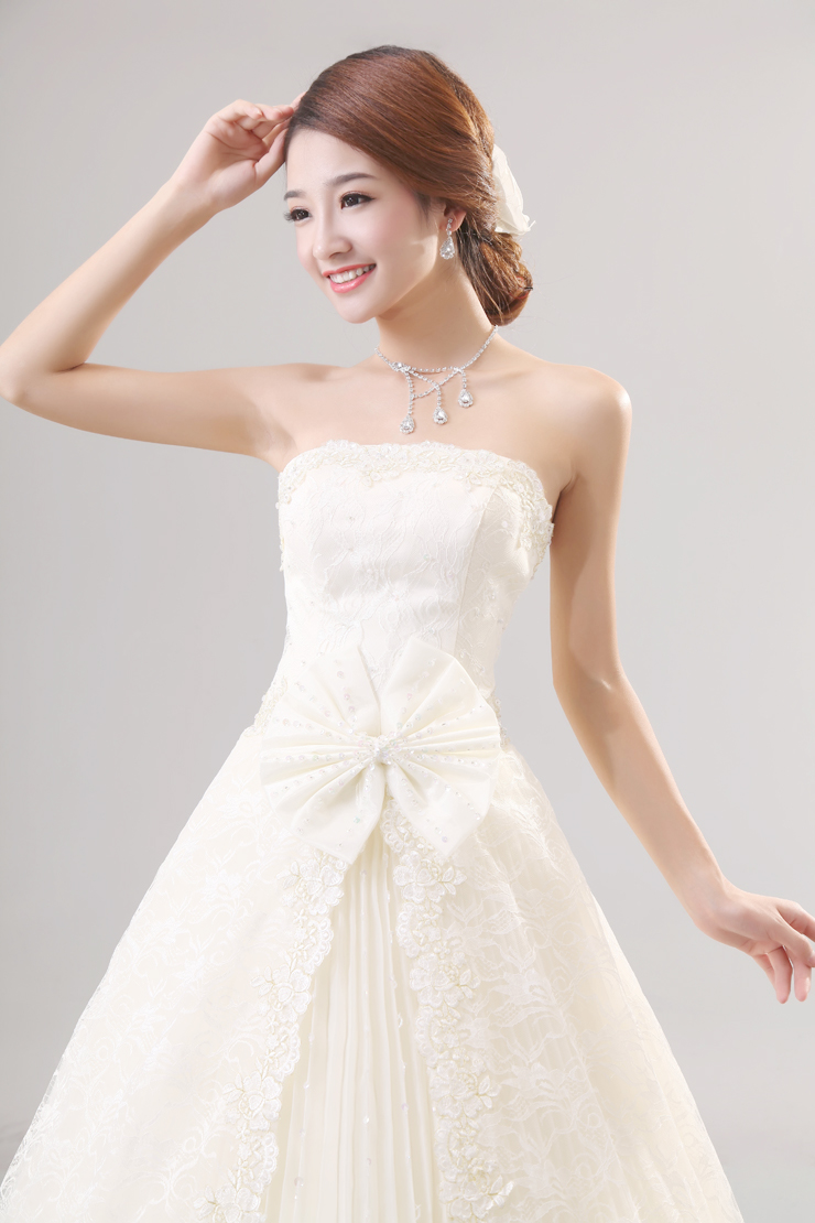 New Style Wedding Dresses 2017 In : Grils wedding dress new korean style bride dresses lace gown