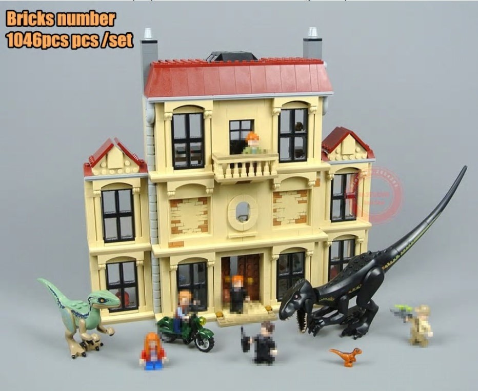 Toys for children Indoraptor Rampage at Lockwood Estate fit Jurassic World city figures Building Block Brick