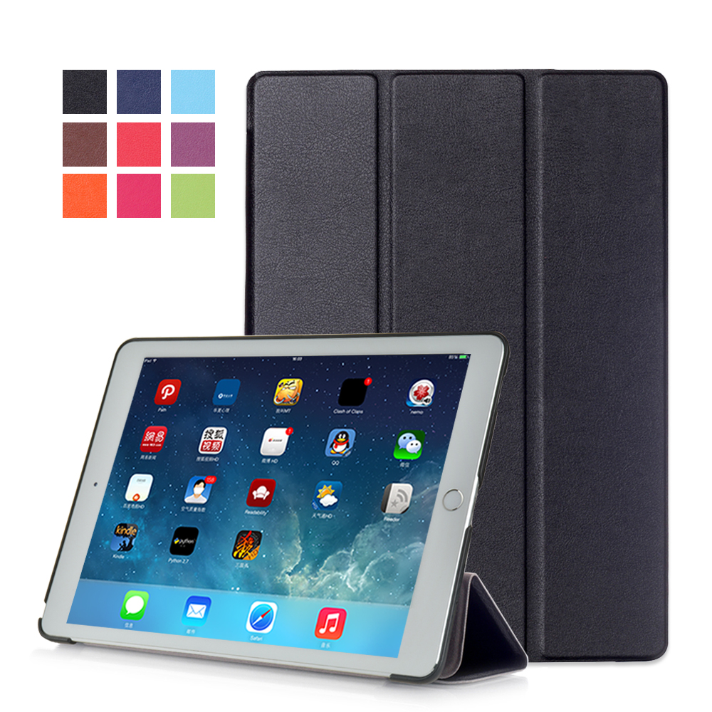 For 2016 new arrival ipad pro 9.7 tablet ipad air 3 tablet front stand PU leather cover case folio stand case+free gift