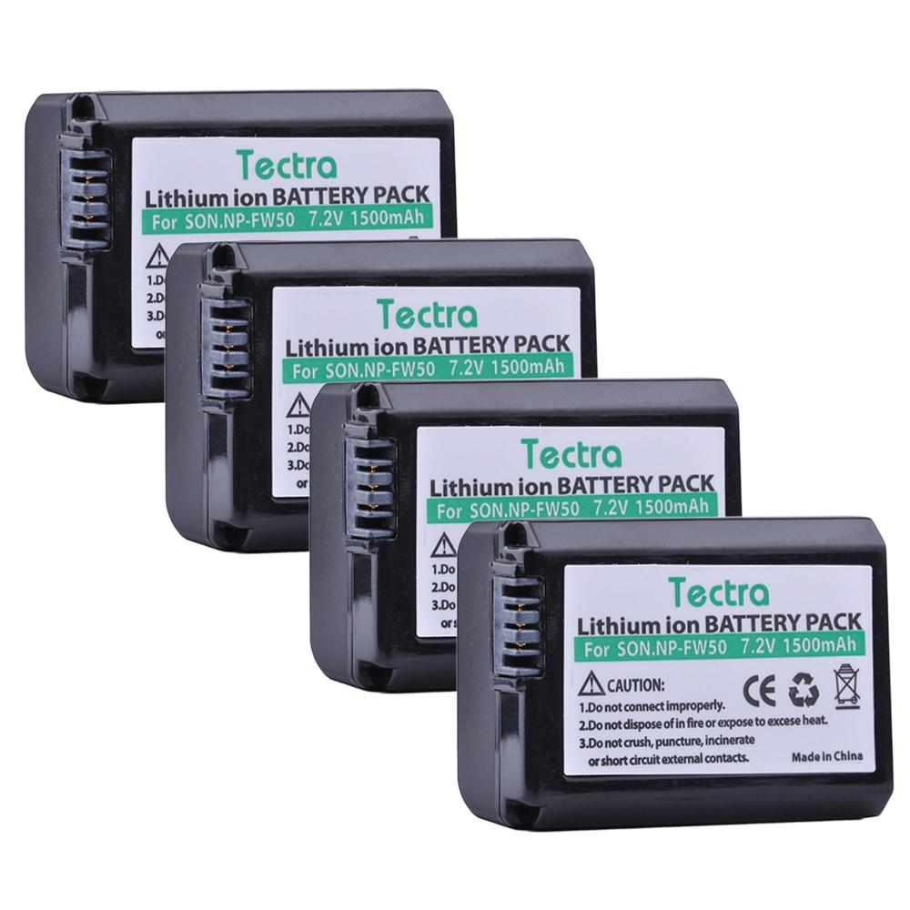 Tectra 4PCS NP-FW50 NPFW50 7.2V/1500mAh Li-ion Camera Battery for Sony NEX-3N NEX-5 NEX-5N NEX-5R Alpha a5000 a6500 DSC-RX10 95%new nex 3n mainboard for sony nex 3n main board nex3n motherboard nex 3n camera repair part