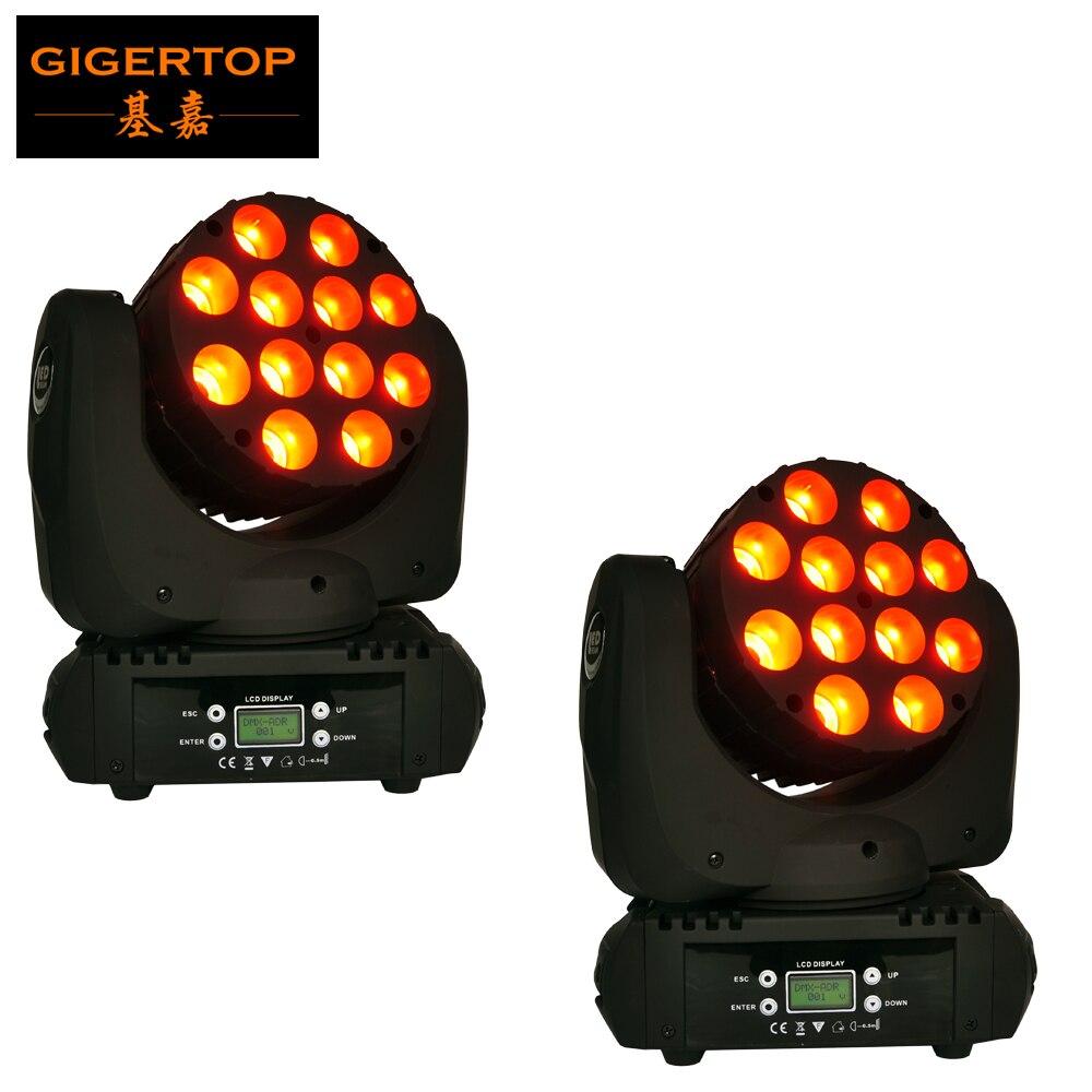 Salut-qualité 2 Pcs/Lot 12x12 W Led faisceau lumière principale mobile DMX Dj éclairage équipement d'étape RGBW quatre couleurs 4in1 5 degrés lentille de faisceau