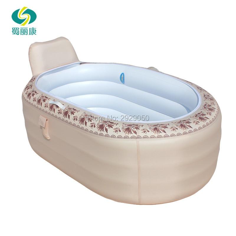 165X105X77cm Home European inflatable bathtub adult folding plastic tub tub adult bath barrel bath barrel