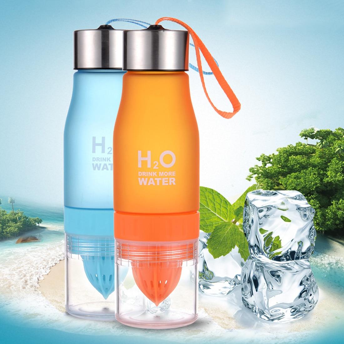 hot sale 700ml Water Bottle H20 plastic Fruit infusion bottle Infuser Drink Outdoor Sports Juice lemon Portable Water