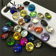 TopStone – strass fantaisie en cristal Rivoli, 35 couleurs, 6 à 18mm, pour la fabrication de bijoux