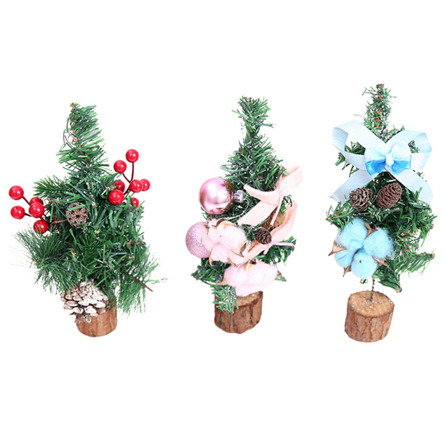 Christmas Tree Cotton Cherry Decoration Holiday Home Mini Artificial Trees Decorations For Xmas Party