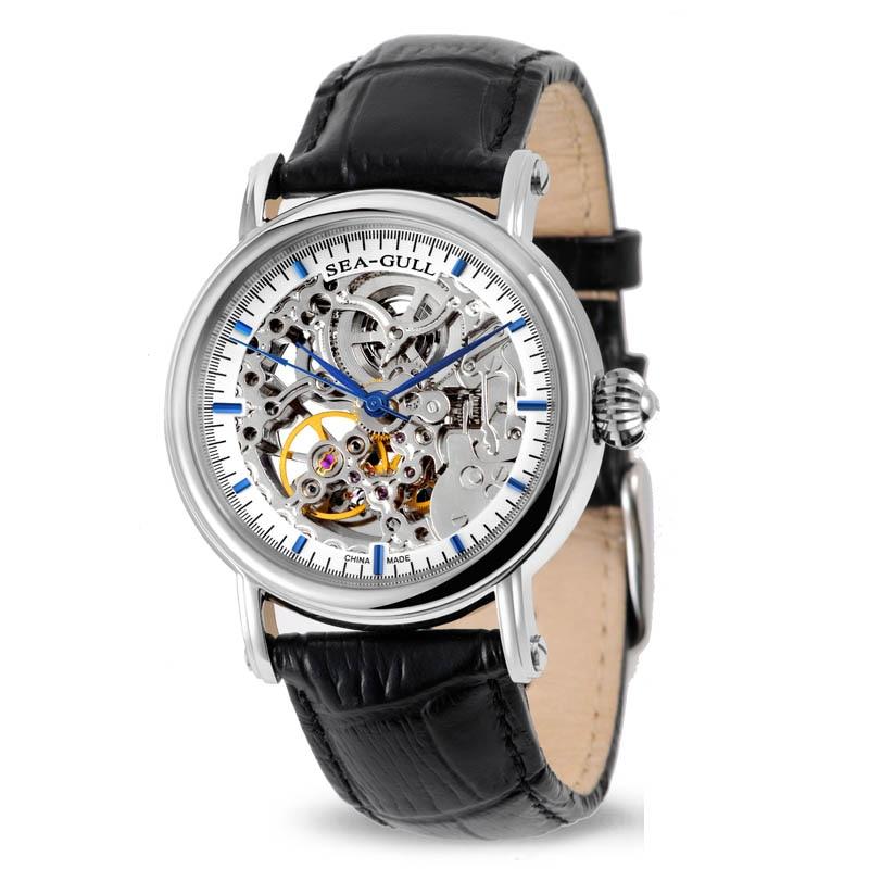 Vrije tijd Automatisch mechanisch echt leder waterdicht horloge met Rome Digital Business voor verschillende gelegenheden M182SK