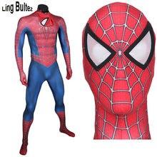 Ling Bultez Haute Qualité 3D Imprimer Nouveau Raimi Deguisement Spiderman  Muscle L ombre Adulte Spiderman Spandex Costume 777fdf12d78