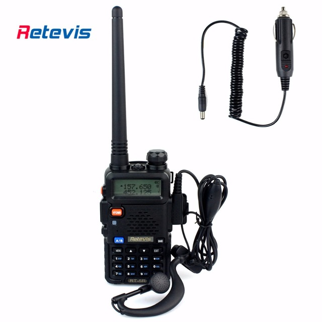 5W Walkie Talkie Retevis RT-5R+Car Charger Cable VHF UHF VOX DTMF FM Handy 2 Way Radio Frequency Portable Radio Set Communicator