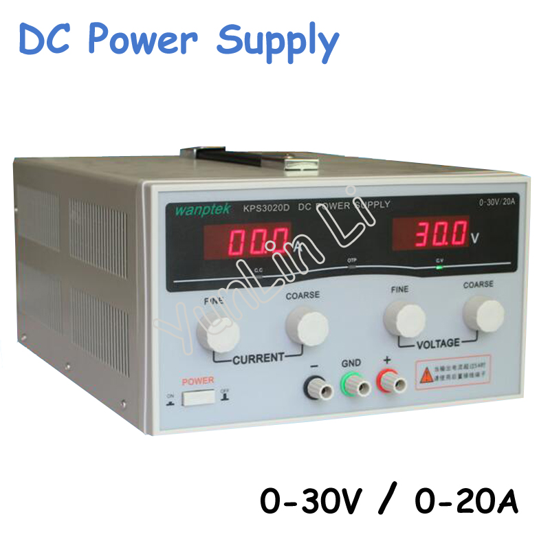 High Precision Adjustable Digital DC Power Supply 30V/20A for Scientific Research Laboratory Switch DC Power Supply 1200w wanptek kps3040d high precision adjustable display dc power supply 0 30v 0 40a high power switching power supply
