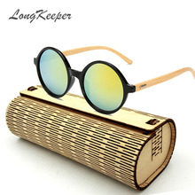 LongKeeper New fashion Products Men Women Glass Bamboo Sunglasses au Retro Vintage Wood Lens Wooden Frame Handmade 1527