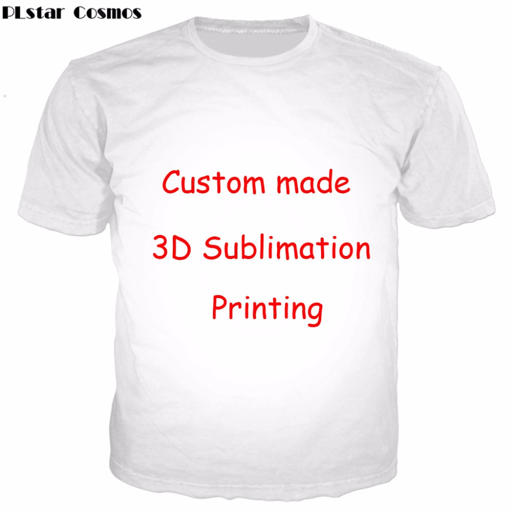 PLstar Cosmos Create Your Own Customer Design Anime/Photo/Star/You Want/Singer Pattern/DIY T-Shirt 3D Print Sublimation T Shirt