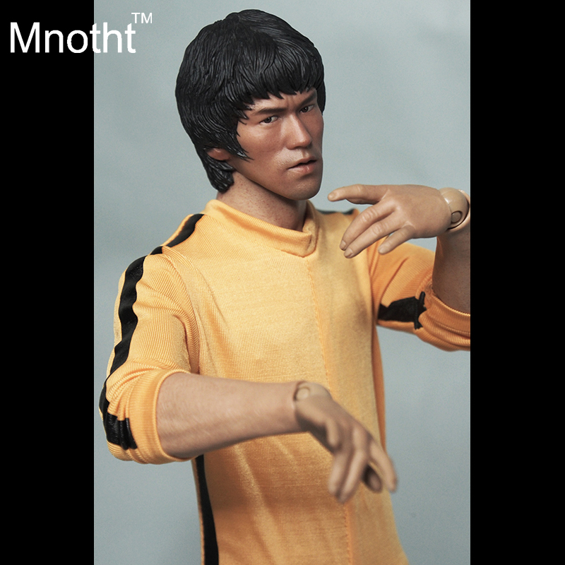 1/6 Soldier Clothes Death Game Bruce Lee Suit + Head Carving Fit 12Collectible Doll Toys Accessories 1 6 soldier clothes death game bruce lee suit head carving fit 12collectible doll toys accessories