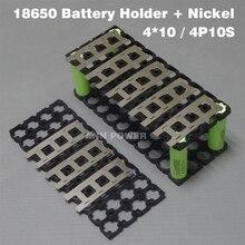 4*10 (4P10S) 18650 pil tutucu + 4P2S nikel şerit için kullanılan 36V 10Ah lityum iyon batarya paketi 4*10 tutucu ve 4*2 nikel kemer