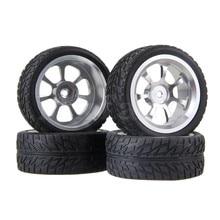 Mxfans RC 1:10 На дороге Автомобилей Резиновые Шины и Алюминиевого Сплава 7-спицевые Колеса Обод