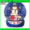 Гигантский надувной шар снега, пение и танцы снеговик снежные шары надувные, надувные человека размер снежный шар для продажи