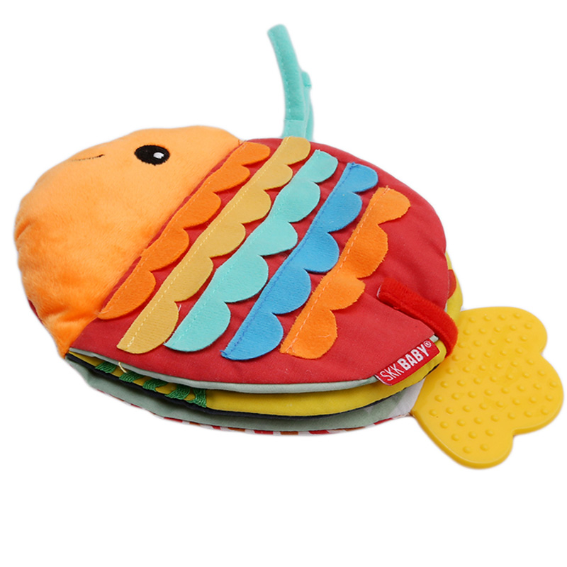 Baby Rattles Mobiles Toy Soft Fish Tails Shape Cloth Book Newborn Stroller Hanging Toy 0-36M Baby Early Learning Educational Toy