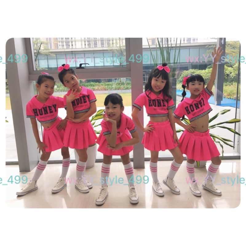 28b32f70ba43 ... Детский красный костюм болельщика, танцевальное платье для девочек,  современные танцевальные костюмы для детей