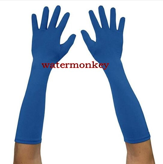 "Watermonkey Adult 15""38.1m Wrist Length Lycra Spandex Full Finger Stretchy Length Gloves Hand Wear Halloween Cosplay Accessories"