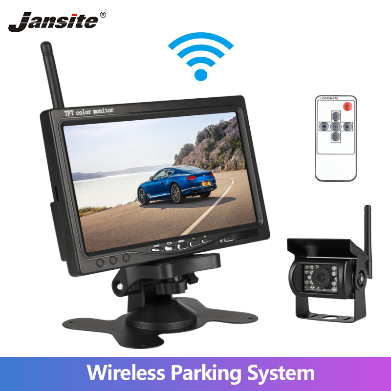 Jansite Car-Monitor Truck Camera Support Van Dvd-Reverse-Camera Wireless LCD TFT