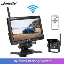 """Jansite """" Беспроводной автомобильный монитор TFT lcd заднего вида для HD монитора камеры для грузовика камеры поддержка автобуса RV Ван DVD Камера заднего вида"""