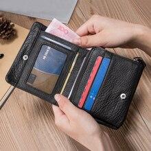 Men Wallets Casual Black Business Cow Leather Wallet Short L