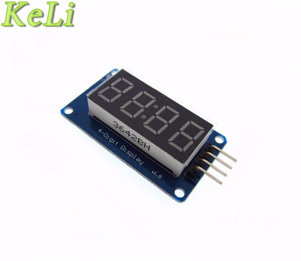 Бесплатная доставка 10 шт./лот 4 биты цифровой LED Дисплей модуль с часами Дисплей tm1637 для Raspberry Pi