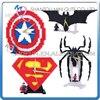 Mini Qute HC Captain America Batman Spiderman Superman Clock Plastic Building Blocks Action Figures Education Educational