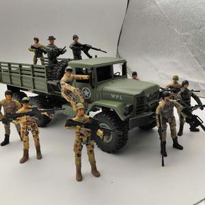 Image 3 - 10cm צבאי כוחות מיוחדים חיילים לבנים דמויות אבני בניין רב משותף מטלטלין צעצוע חייל עם קישוט צעצוע
