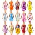 Случайная 12 ШТ. Смешанные Виды Barbie Куклы Модная Одежда Красивая ручной Куклы Платье Для Barbie Куклы Девушке Подарок детский игрушка