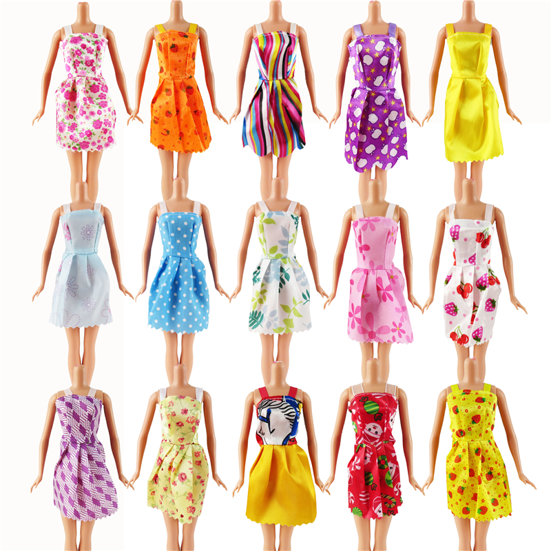 все цены на Random 12 PCS Mixed Sorts Barbie Doll Fashion Clothes Beautiful Handmade Doll Party Dress For Barbie Dolls Girl Gift Kid's Toy