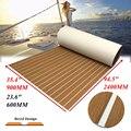 2 Size EVA Teak Decking Sheet Voor Boot Jacht Marine Vloeren Tapijt Verbeterde Lichtbruin In Witte Boot Accessoires