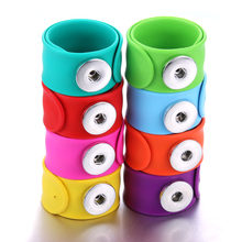 Creative papa circle Snap Bracelet Hot Sale Trendy Snap Button Bracelet Bangles fit 18MM Snap Jewelry fun gift(China)