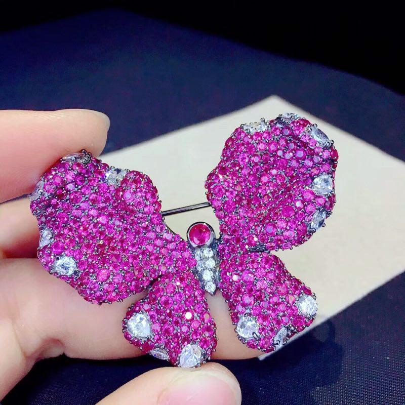 Qi Xuan Trendy Jewelry Elegant Beau Papillon Ring S925 Solide Argent Mode Papillon Ringh Manufacturer Directement Vente - 4