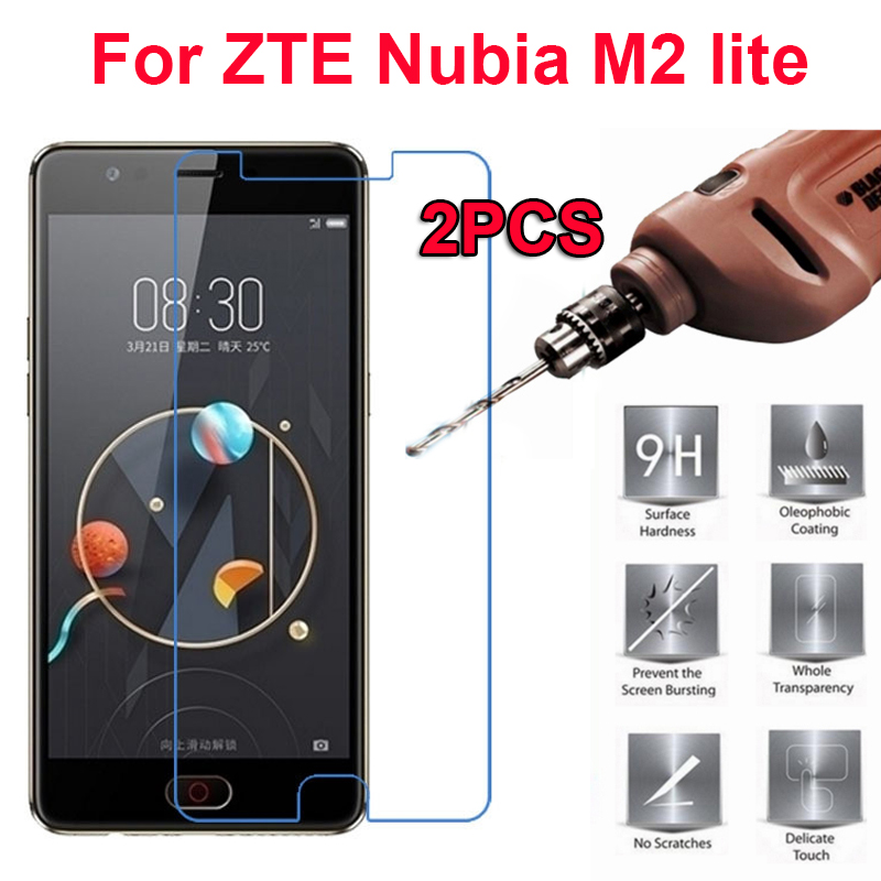 2PC Explosionproof Tempered Glass Protective Film For ZTE nubia M2 lite Case Screen Protector for ZTE Nubia M2 Lite nx573j Glass(China)