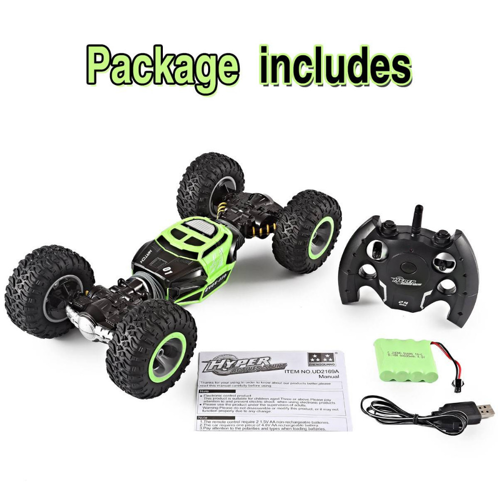 Image 4 - RC Car 4WD Truck Scale Double sided 2.4GHz  One Key Transformation All terrain Vehicle Varanid Climbing Car Remote Control Toys-in RC Cars from Toys & Hobbies