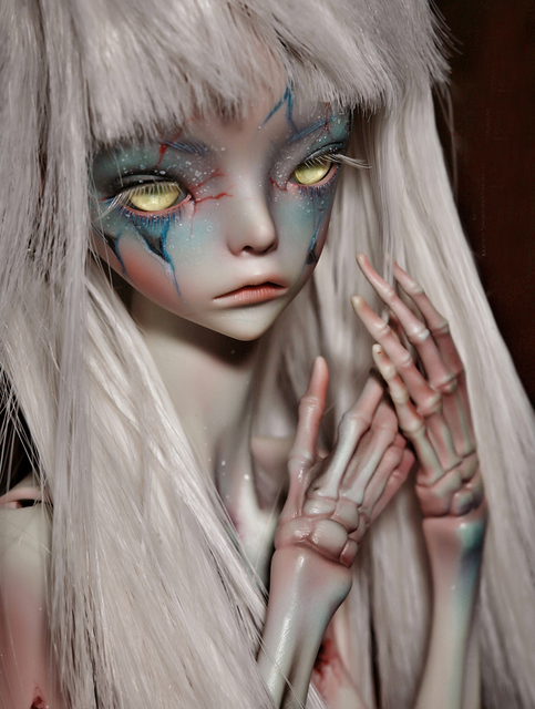 Free shipping 1/4 bjd doll The Hermit IX gray green color